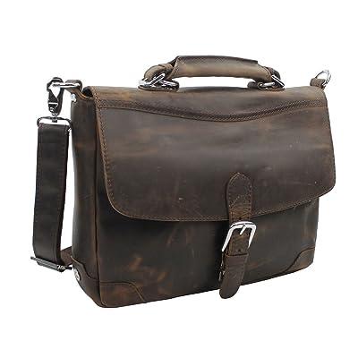 "Vagabond Traveler 15"" Cowhide Fine Leather Laptop Bag L30. Dark Brown"