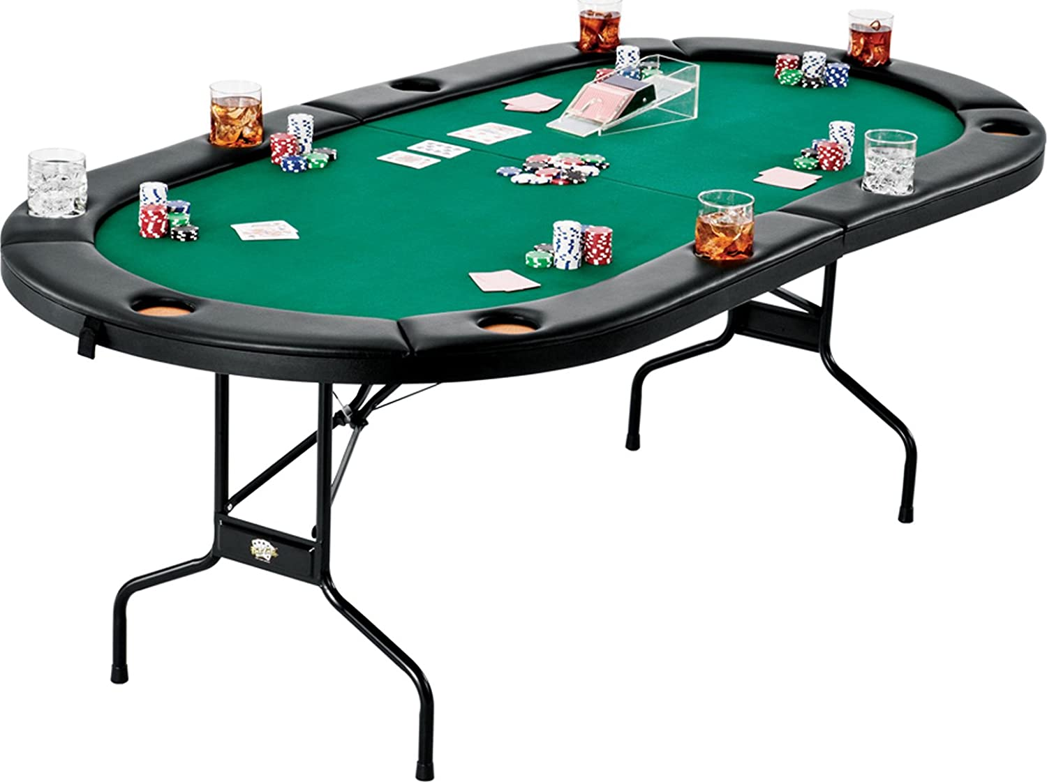 Amazon Com Fat Cat Folding Texas Hold Em Poker Casino Game
