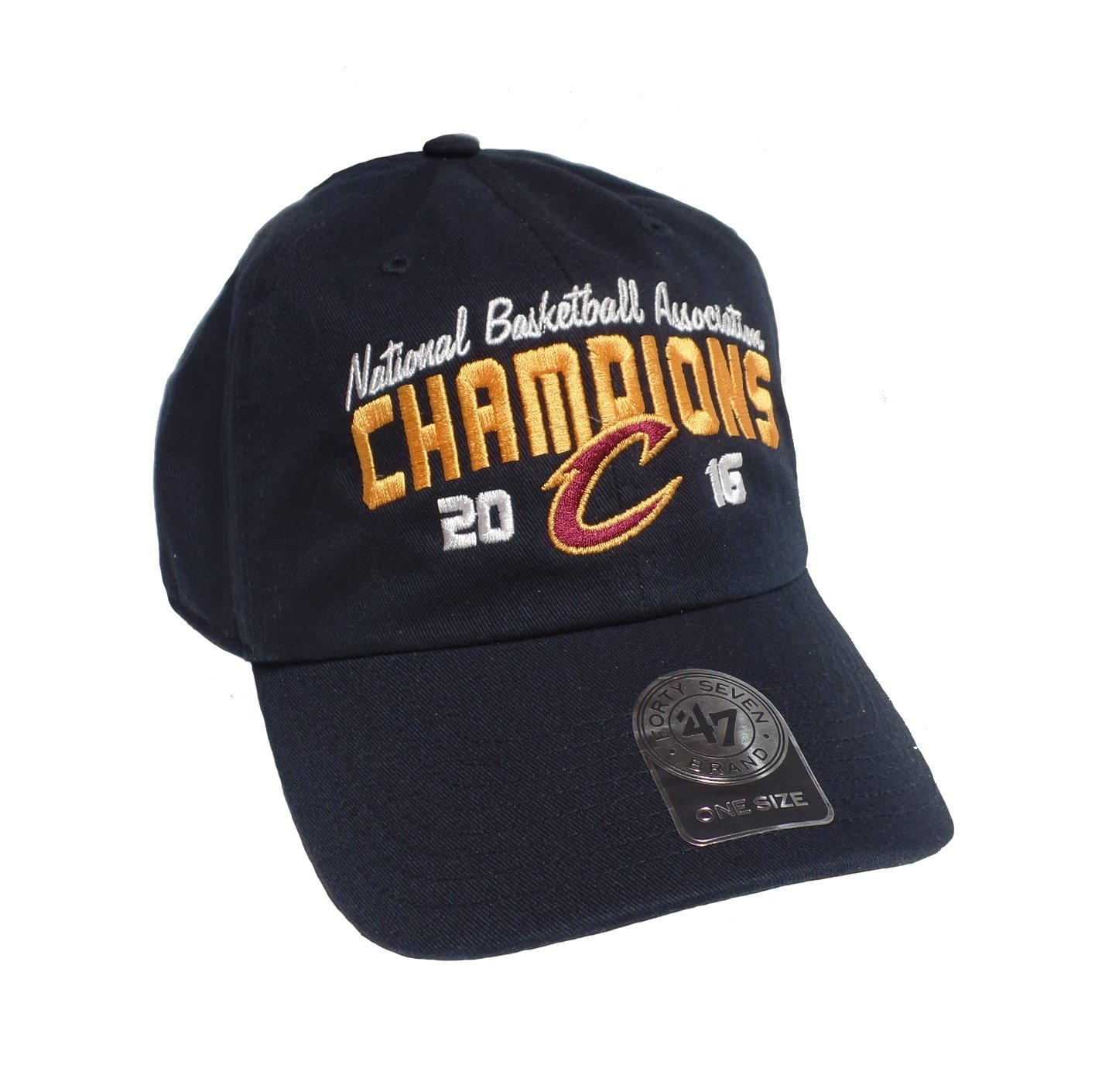 Amazon.com    47 Cleveland Cavaliers Navy 2016 NBA Finals Champions Clean  Up Dad Hat   Sports   Outdoors ef0ad61dd90