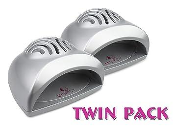 Twin Pack USpicy SEASHELL Portable Mini Fan Cute Size Handy Manicure Nail Dryer Blower For