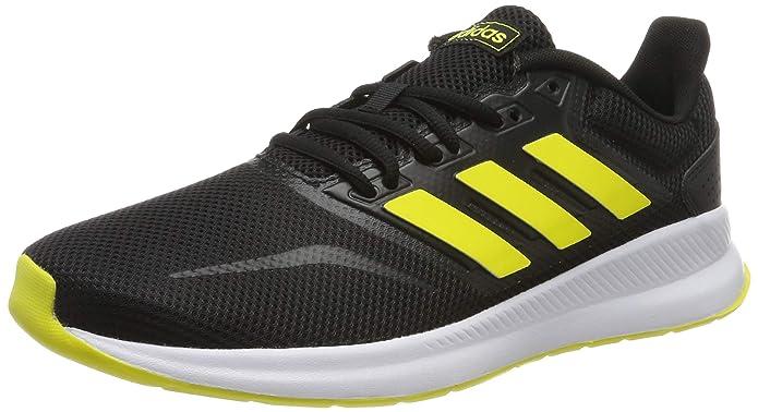 adidas Runfalcon Sneakers Herren Schwarz mit gelben Streifen