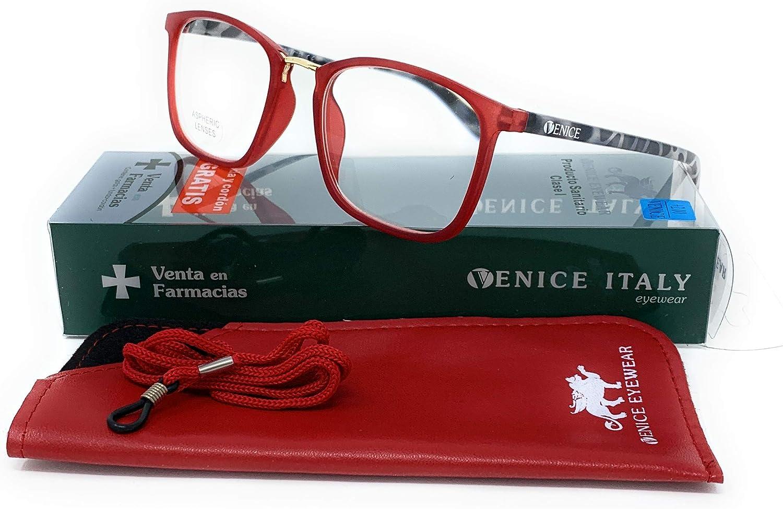 Occhiali da Lettura Bridge Donna Blu, 1,00 Visione Chiara Moda Comodo Verde-Blu-Rosso