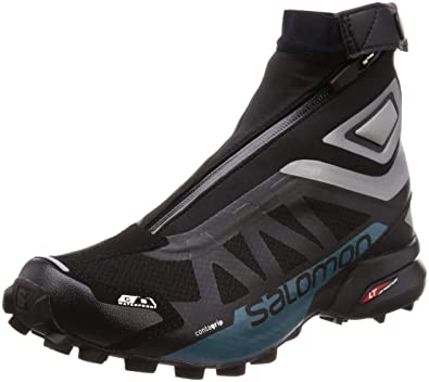 793cccbc Salomon SNOWCROSS 2 CSWP Trail Running Shoe, Black/Reflective  Silver/Mallard Blue,