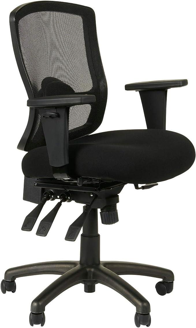 Amazon Com Alera Etros Series Petite Mid Back Multifunction Mesh Chair Black Furniture Decor