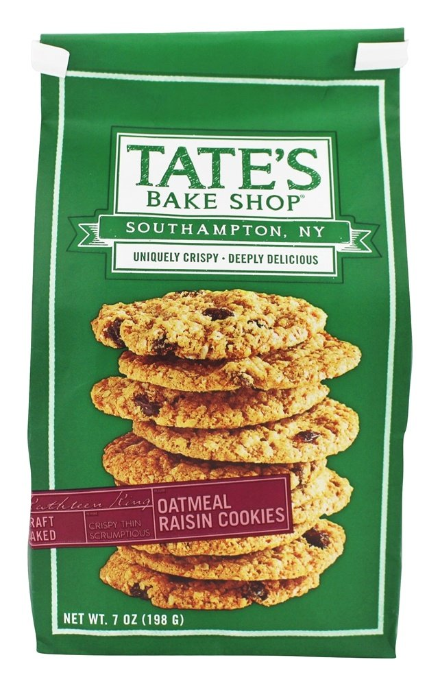 Tate's Bake Shop All Natural Oatmeal Raisin Cookies 7oz (Pack of 3) by Tate's Bake Shop