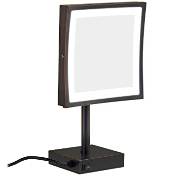 Square Vanity Mirror With Lights. GURUN Square Lighted Vanity Mirror with 3x Magnification 8 5 inch  Oil Rubbed bronze Amazon com