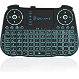 DQiDianZ Mini Wireless Keyboard 2.4G Backlit Touchpad Wireless Keyboard for Smart Android TV Box PC-Black, Built-in…