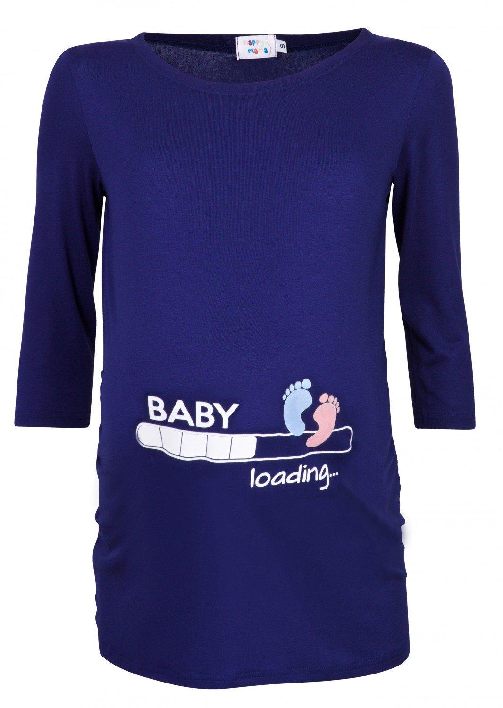 Happy Mama. Woman's Maternity Baby Loading Feet Funny Print T-shirt Top. 549p 267512_549