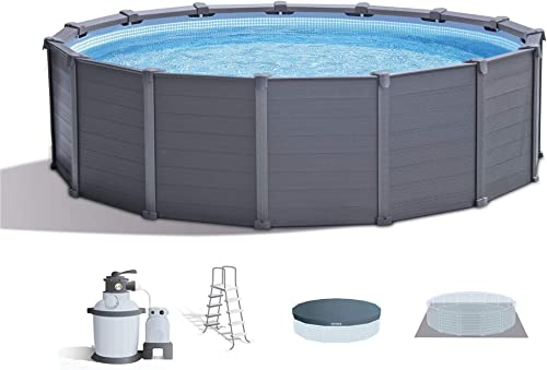 Intex 15.6ft x 49in Above Ground Swimming Pool Set w Sand Filter Pump Ladder