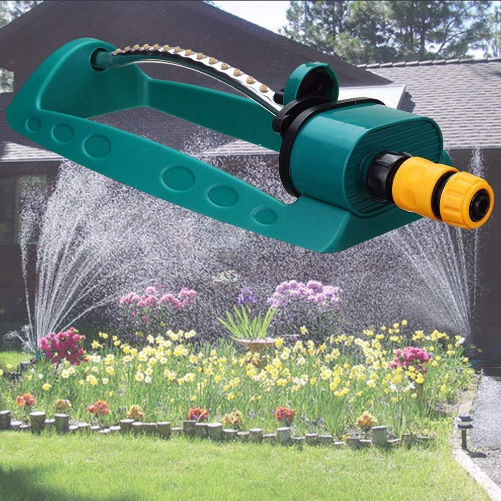 WAOBE Spruzzatore del Giardino,Regolabile in Lega 360 /° Automatico Rotante irrigazione spruzzatore oscillante oscillatore irrigatori