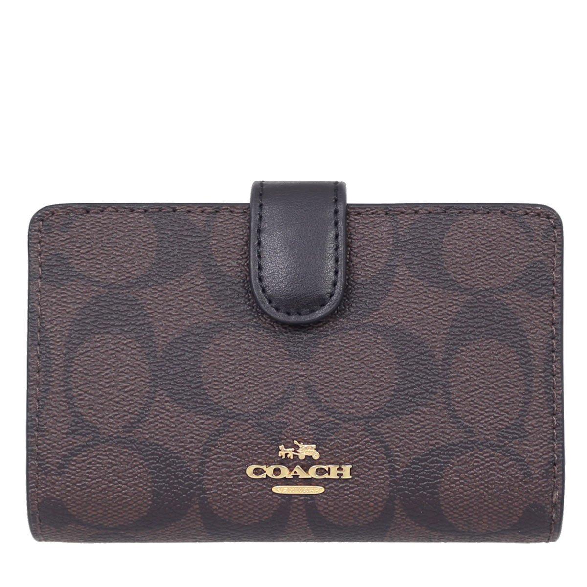 [コーチ] COACH 財布 (二つ折り財布) F23553 シグネチャー 二つ折り財布 レディース [アウトレット品] [並行輸入品] B0773B1VV1 ブラウン/ブラック ブラウン/ブラック