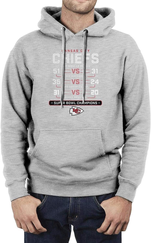 LRTYQMZAP Kansas Football Cham-pions Hoodies for Mens Lightweight Hooded Sweatshirts