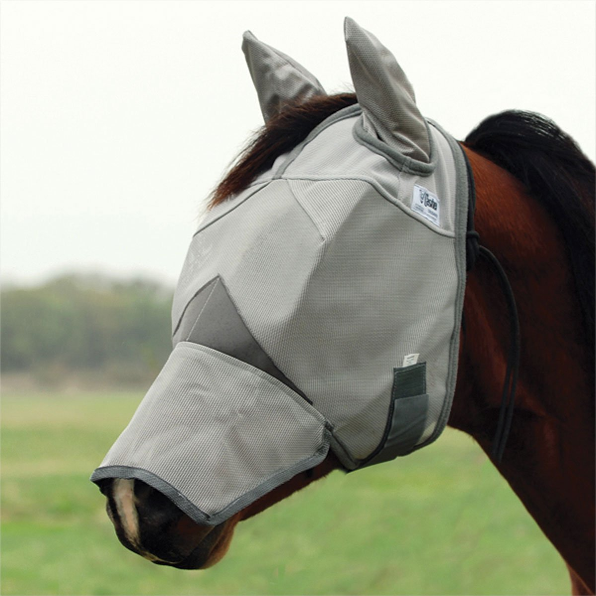 Cashel Crusader Fly Mask with Ears and Long Nose - Size: Yearling, Large Pony