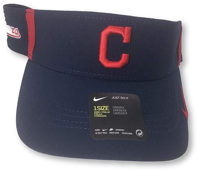 53d6b430 Amazon.com : Nike Cleveland Indians Aerobill Dri-Fit Vapor Adjustable Visor  Hat : Clothing