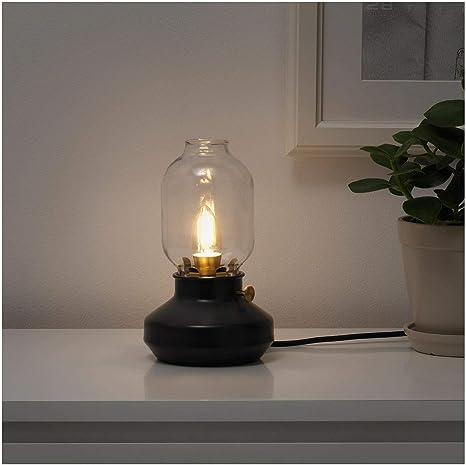 Ikea Tarnaby Lampada Da Tavolo Stile Cherosene Regolabile Antracite Nero Amazon It Illuminazione