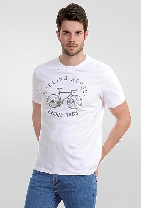 Amichi, Camiseta bicicleta - Hombre - blanco - Talla XXXXL: Amazon ...