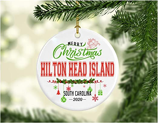 Hilton Head Christmas 2020 Amazon.com: Christmas Decorations Tree Ornament   Gifts Hometown
