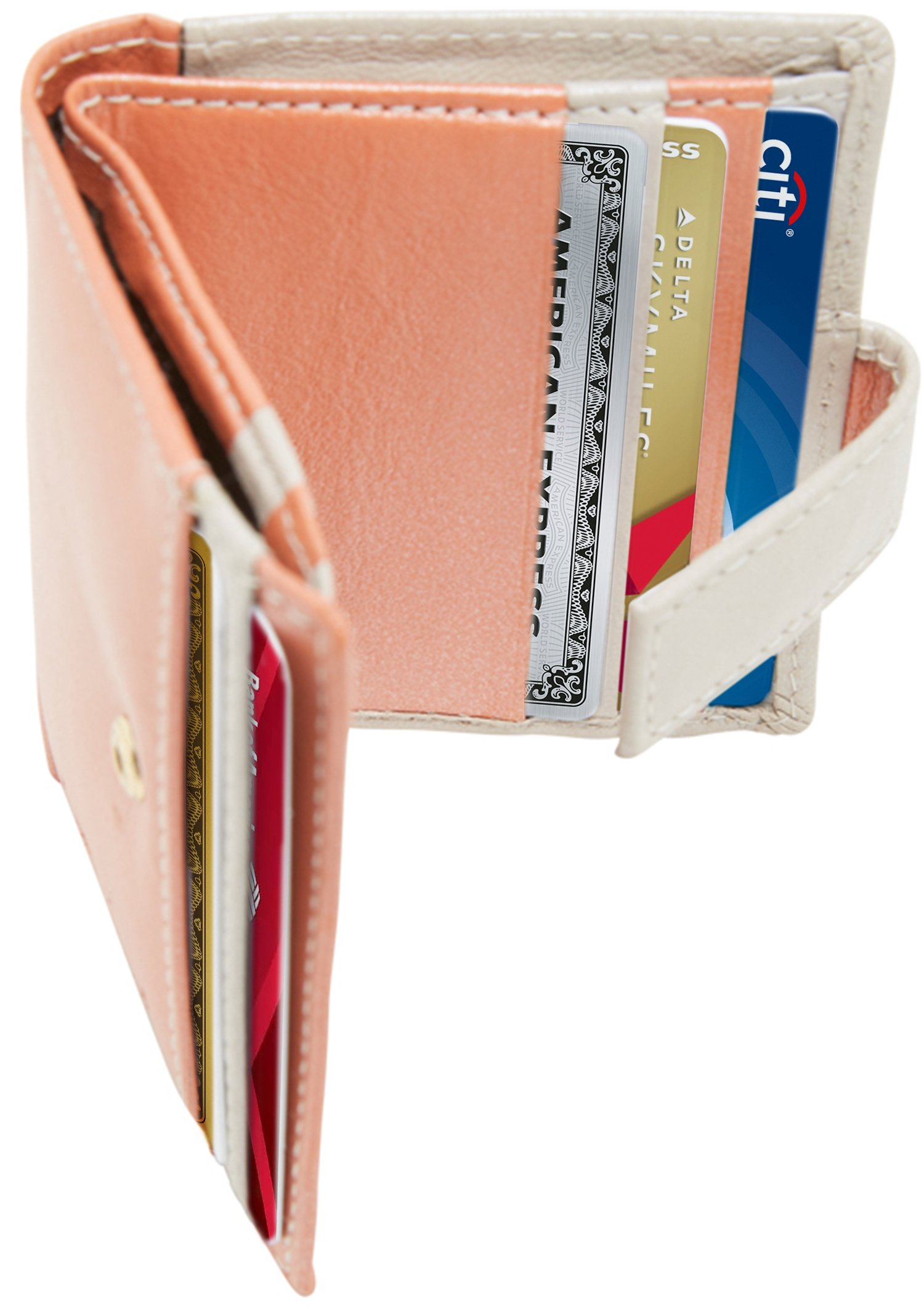 Small Bifold Wallets For Women RFID Blocking - Slim Organizer Leather Credit Card Holder