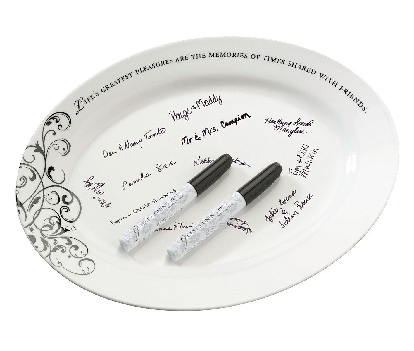 Lillian Rose Wedding Guest Book Alternative Ceramic Sign Plate