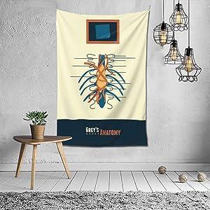 Uzila Grey's Anatomy Tapestry Wall Art Room Decor for Living Room Bed Room Wall Hanging Picnic Blanket Beach Towel
