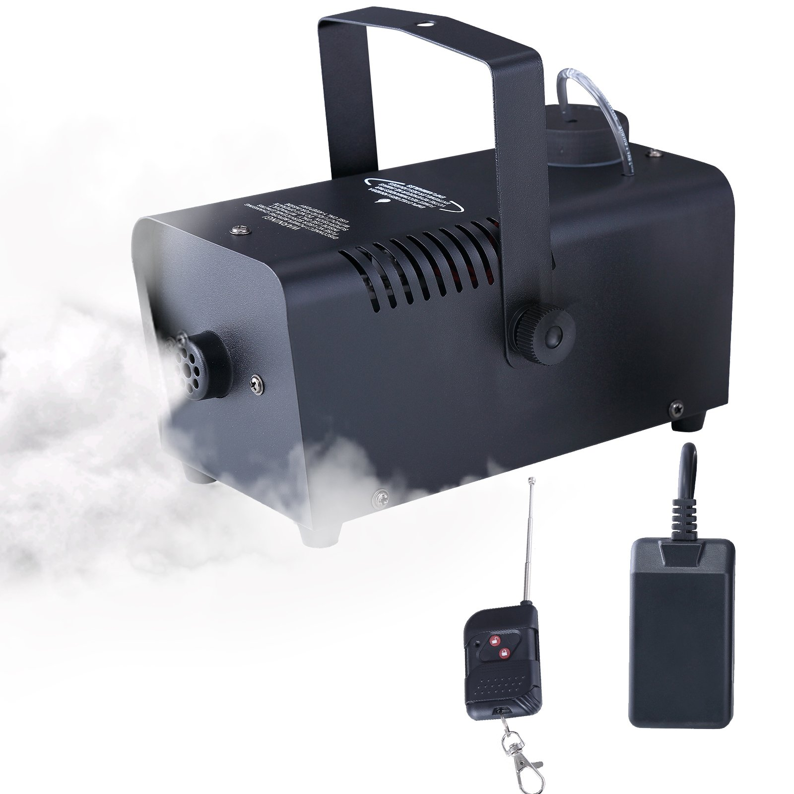 KUPPET 1500 CFM Fog Smoke Machine-400W Portable Stage Effect Machine w/Wireless Remote Control for Halloween, Holidays, Parties, Weddings, Live Concerts, Theaters etc-Metal Black