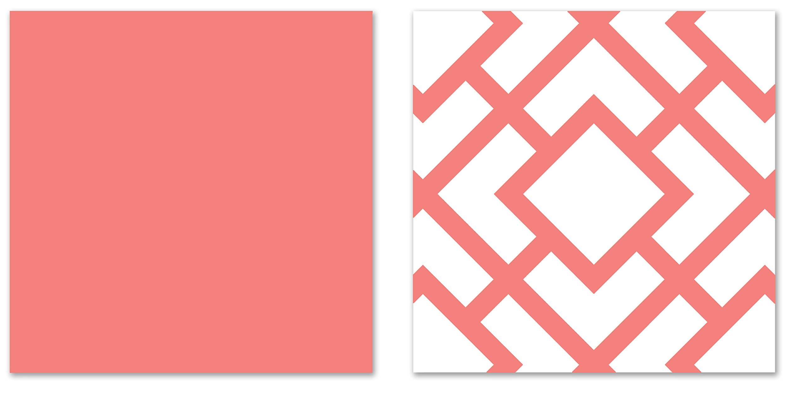 Sweet Jojo Designs Modern White and Coral Diamond Geometric Toddler Bed Bedding Girl Kids Childrens Comforter Sheet Set by Sweet Jojo Designs