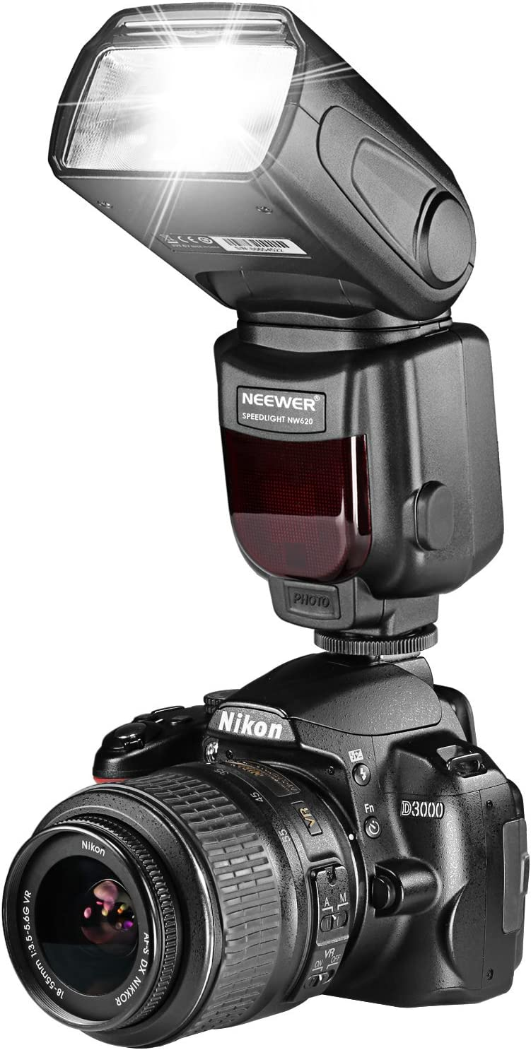 Neewer NW620(GN58) Speedlite Flash Pantalla LCD para Canon Nikon ...