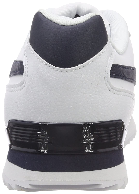 41 EU Zapatillas de Gimnasia para Hombre Blanco White//Collegiate Navy Reebok Royal Glide Rplclp