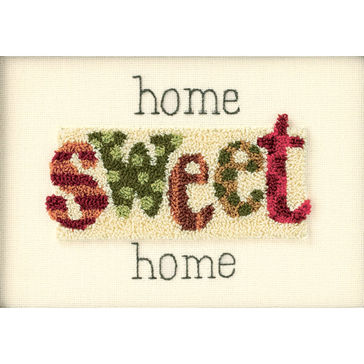 Home Sweet Home Punch Needle Kit-7x5 Dimensions 4336937254