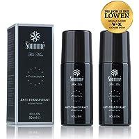 Soummé Antitranspirant Protection Roll-On for Men Kosmetikum [2 x 50 ml] | Schützt vor Schweiß- und Geruchsbildung, verschiedene Pflegestoffe [Die Höhle der Löwen]