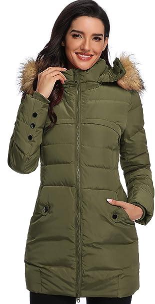 Amazon.com: Epsion - Chaqueta de invierno con capucha y ...