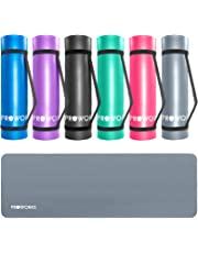 Proworks Yoga Mat, Eco Friendly NBR, Non-Slip Exercise Mat with Carry Strap for Yoga, Pilates, and Gymnastics - 183cm x 60cm x 1cm - 8 colours