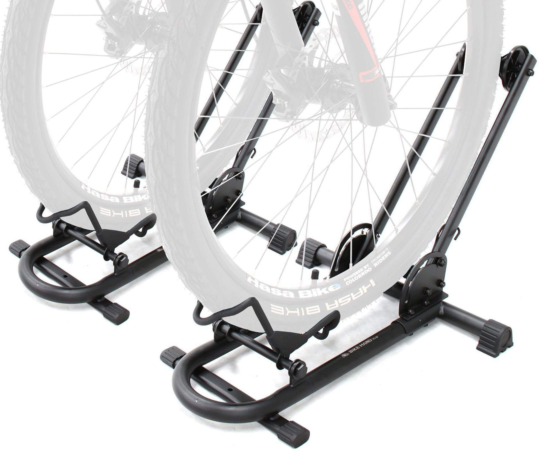 Bikehand Bike Floor Parking Rack Storage Stand Bicycle Pack of 2 (Renewed)
