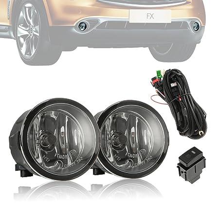 alavente lámparas de luz antiniebla Asamblea con bombillas halógenas H11 para Nissan Infiniti (par izquierda y derecha): Amazon.es: Coche y moto