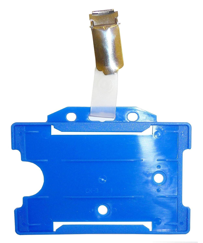 confezione da 25 blu /® Customcard ltd-Badge con Clip