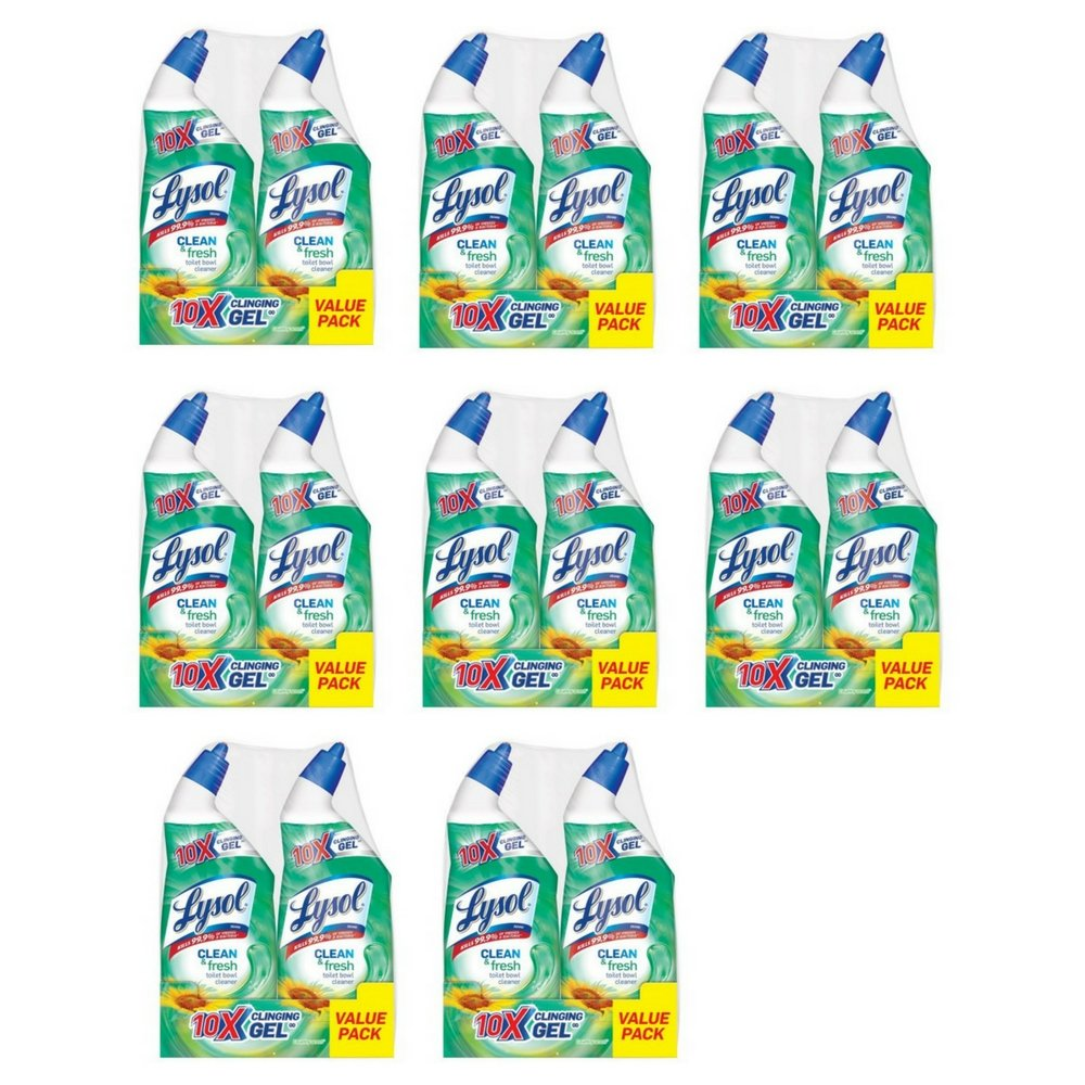 Lysol Power & Fresh Toilet Bowl Cleaner, Country Scent, 48oz (2X24oz) (8 Pack)