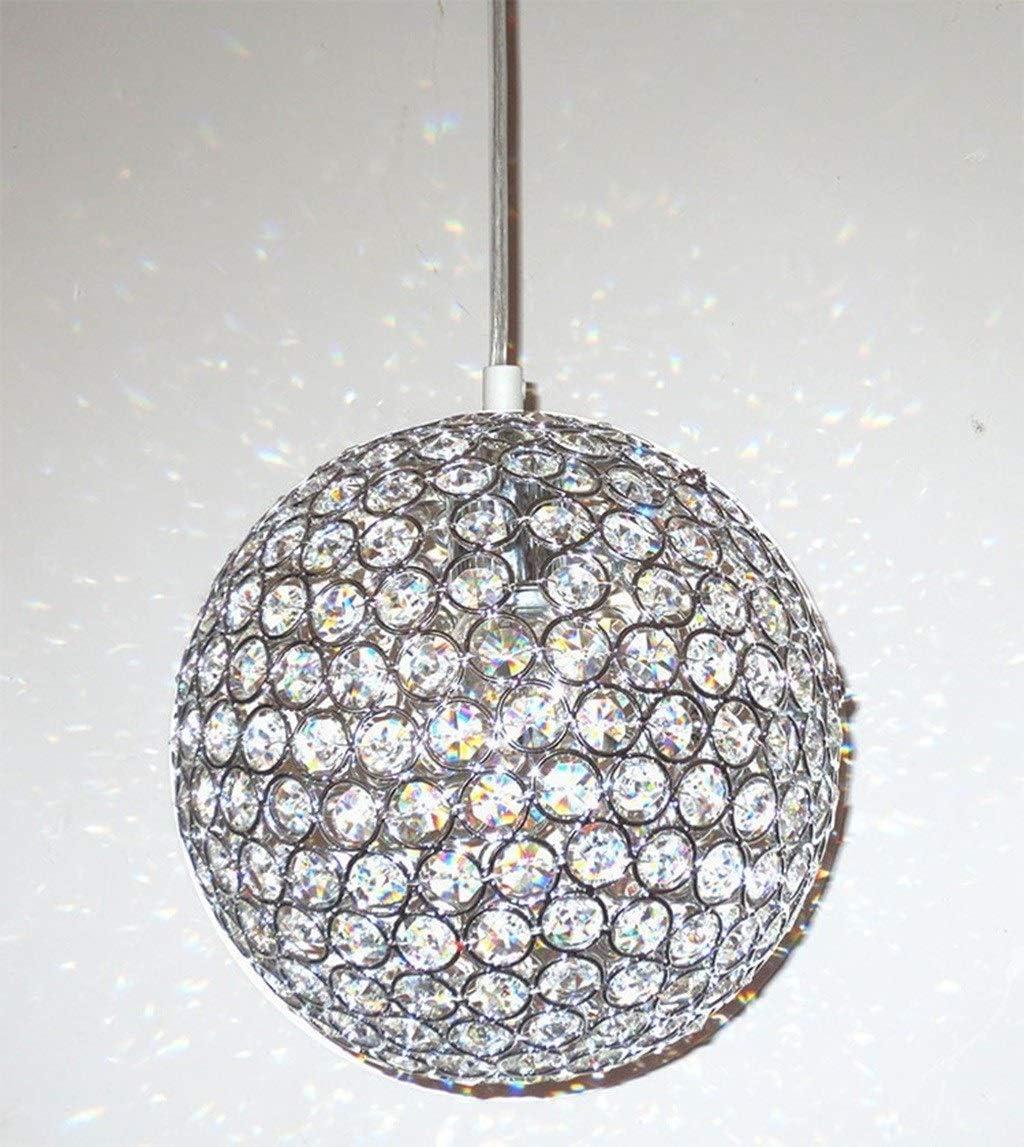 Mode Kugel-Kugel-Kristall-Kronleuchter, Verziert Chrom Wohnzimmer Esszimmer Schlafzimmer Treppe LED Deckenpendelleuchte Kristal Luster Kronleuchter Hängelampe (Größe : 15cm) 25cm