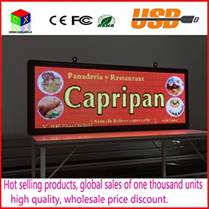 P5 SMD3528 LED display panel indoor advertising RGB 7 color advertisement size:103cmX39cm(40