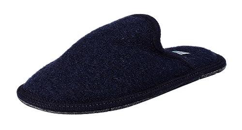 d0151db89cde Le Clare SEBA Tinta Unita - Boiled Wool Slippers for Men - Blue - Size 4