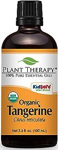 Plant Therapy Tangerine Organic Essential Oil 100 mL (3.3 oz) 100% Pure, Undiluted, Therapeutic Grade