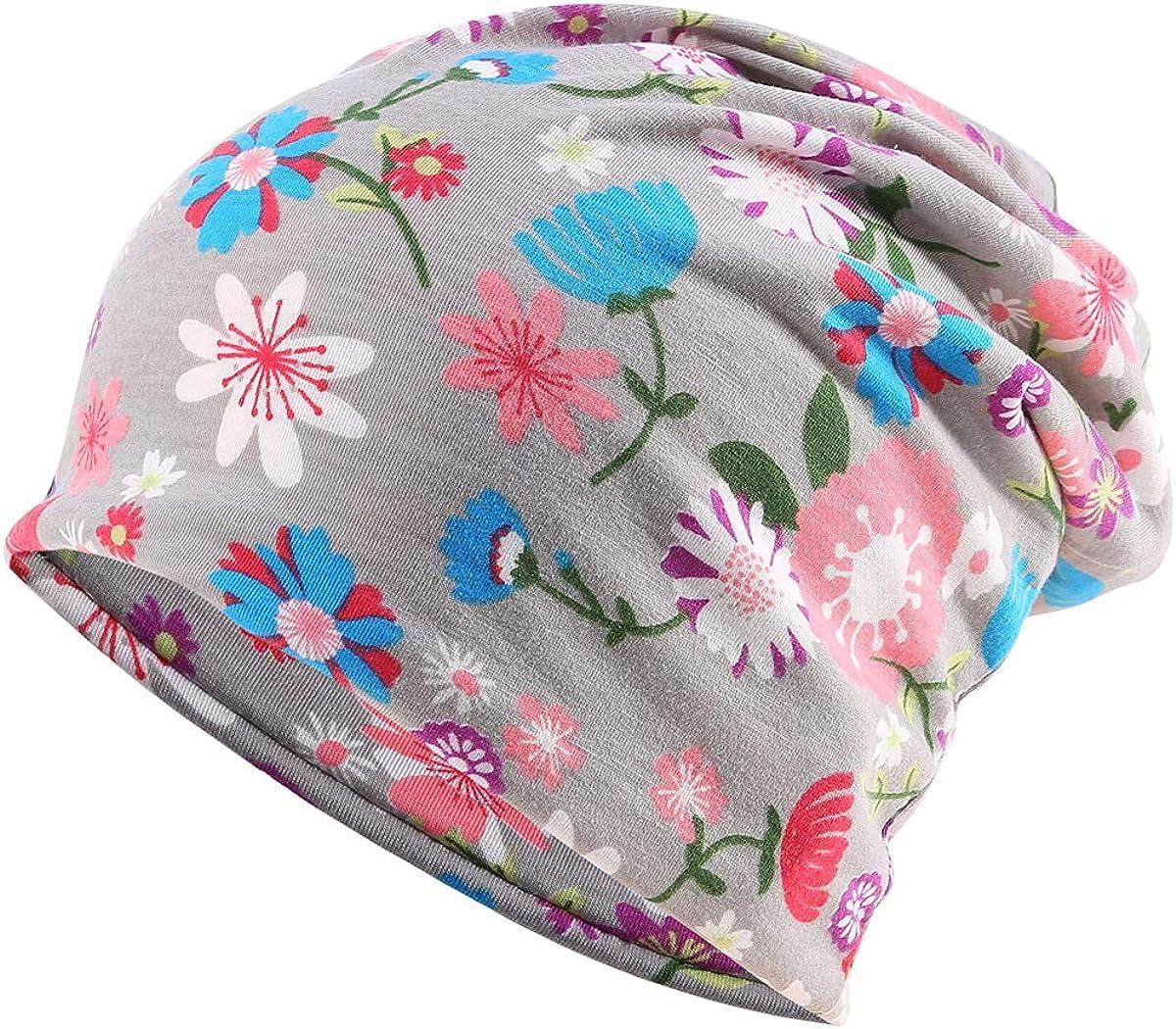 Womens Sleep Soft Headwear Cotton Lace Beanie Hat Hair Covers Night Sleep Cap