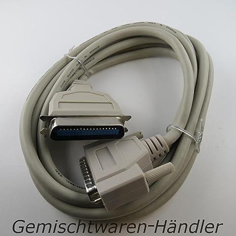 Cable paralelo 3 M cable de impresora Dsub 25 pines Cable de ...