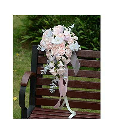 fdeb37874106d Amazon.com: Buque Noiva Lavender Bridal Bouquet Pink Roses ...