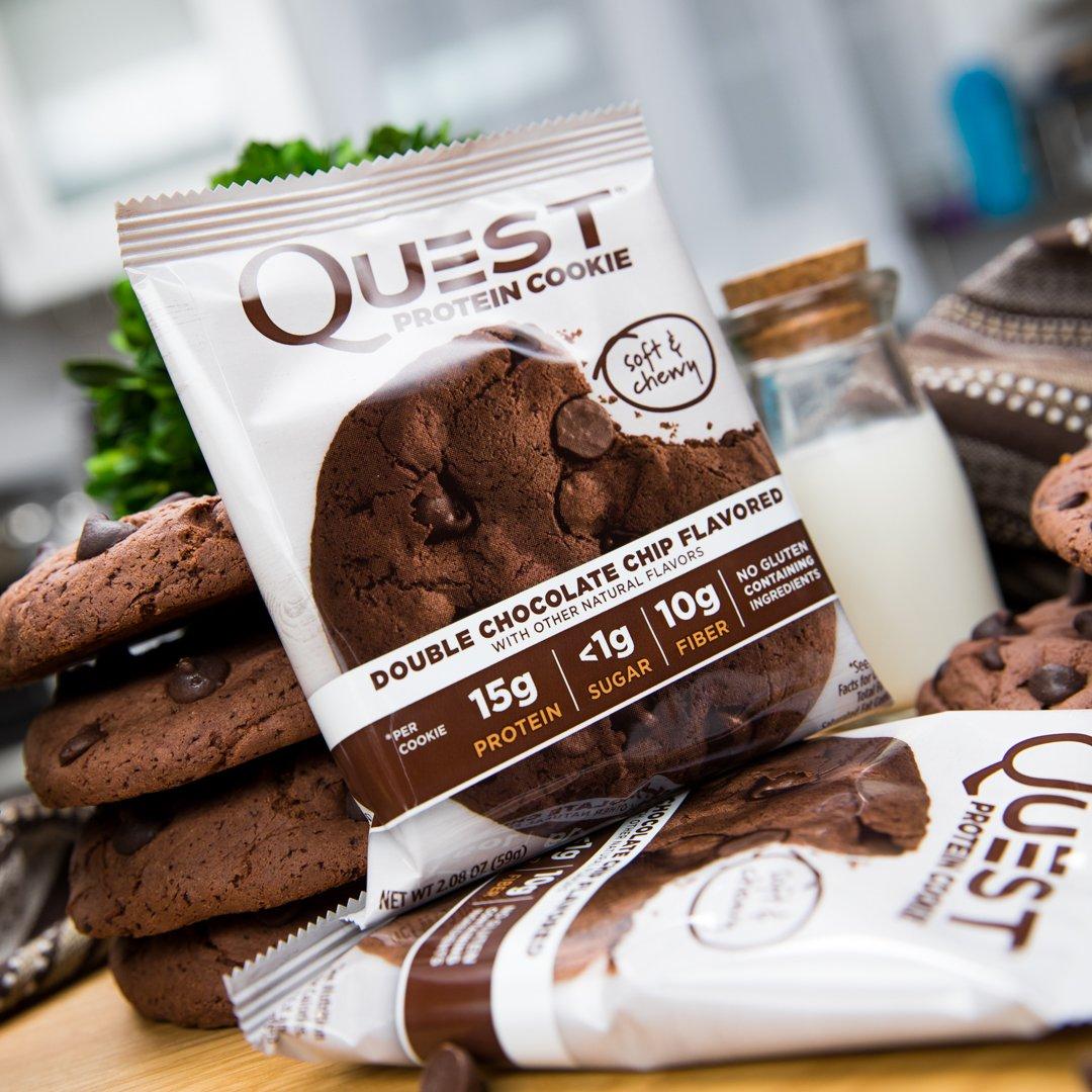 Quest Nutrition Protein Cookie Double Chocolate Chip - 12 Barras: Amazon.es: Salud y cuidado personal