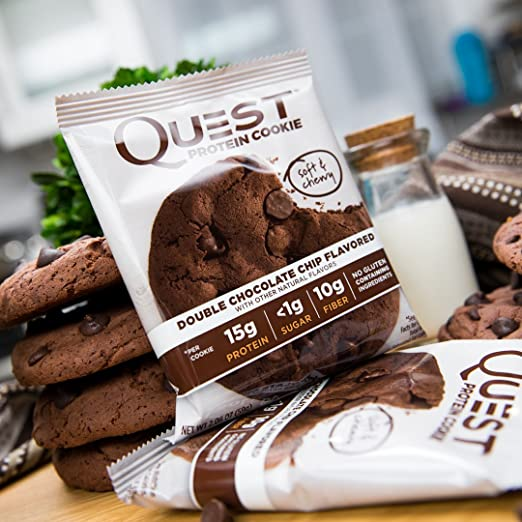 Quest Nutrition Protein Cookie Double Chocolate Chip - 12 Barras: Amazon.es: Salud y cuidado personal