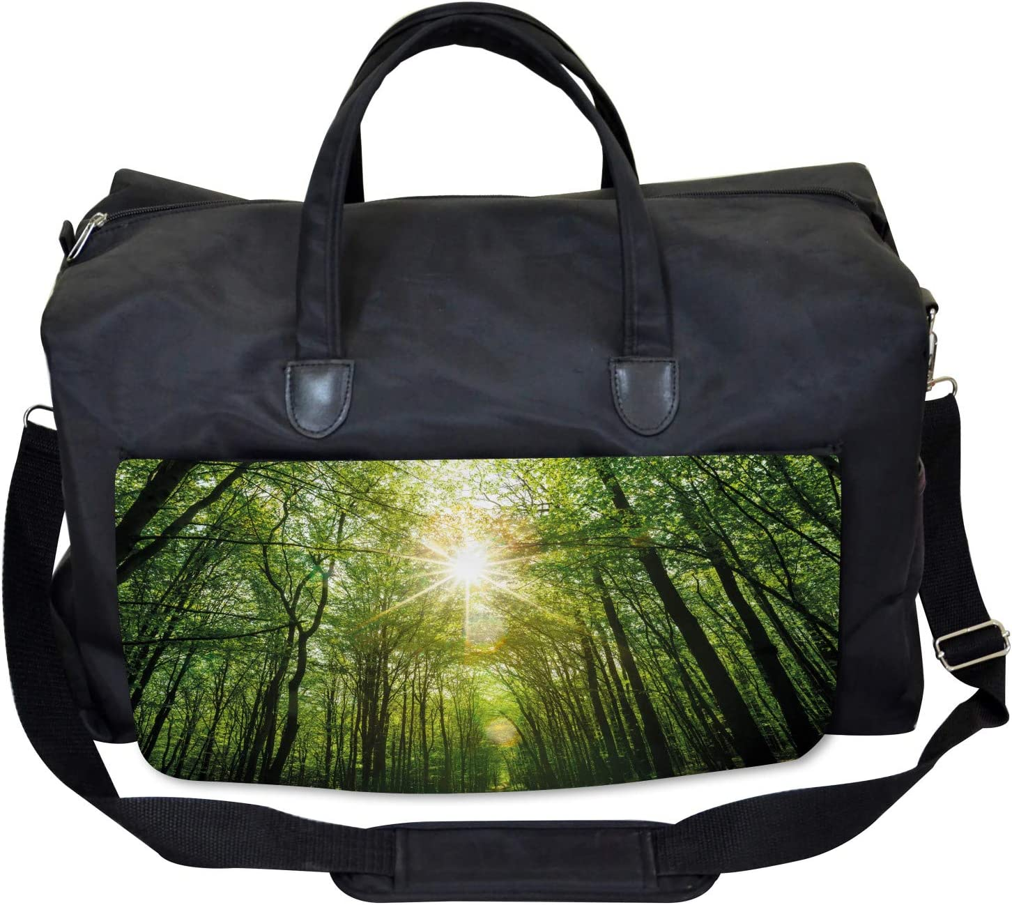 Ambesonne Forest Gym Bag Summer Trees Upward View Large Weekender Carry-on
