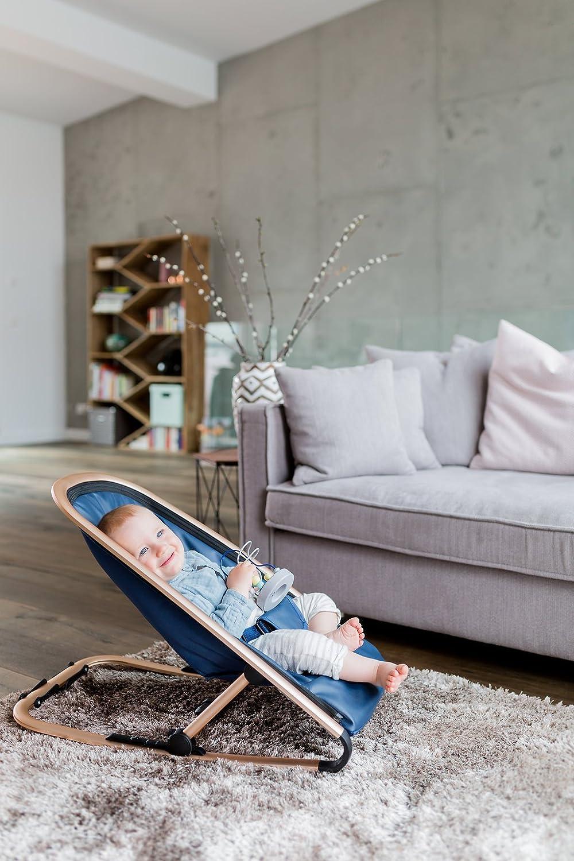 Luxus Babyliege dunkelgrau Kindsgut Baby-Wippe