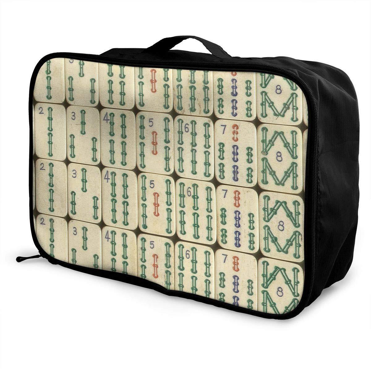 JTRVW Luggage Bags for Travel Cool China Mahjong Travel Duffel Bag Waterproof Fashion Lightweight Large Capacity Portable Duffel Bag for Men /& Women