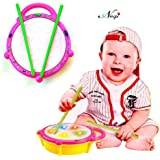 Negi Battery Operated Musical Multi-Colored Flash Drum for Kids