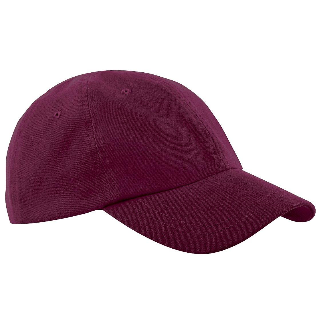 Beechfield Junior Low Profile Baseball Cap / Schoolwear / Headwear (One Size) (Burgundy)